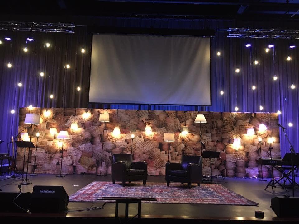 Psalm Prints | Church Stage Design Ideas | Stage set design ...