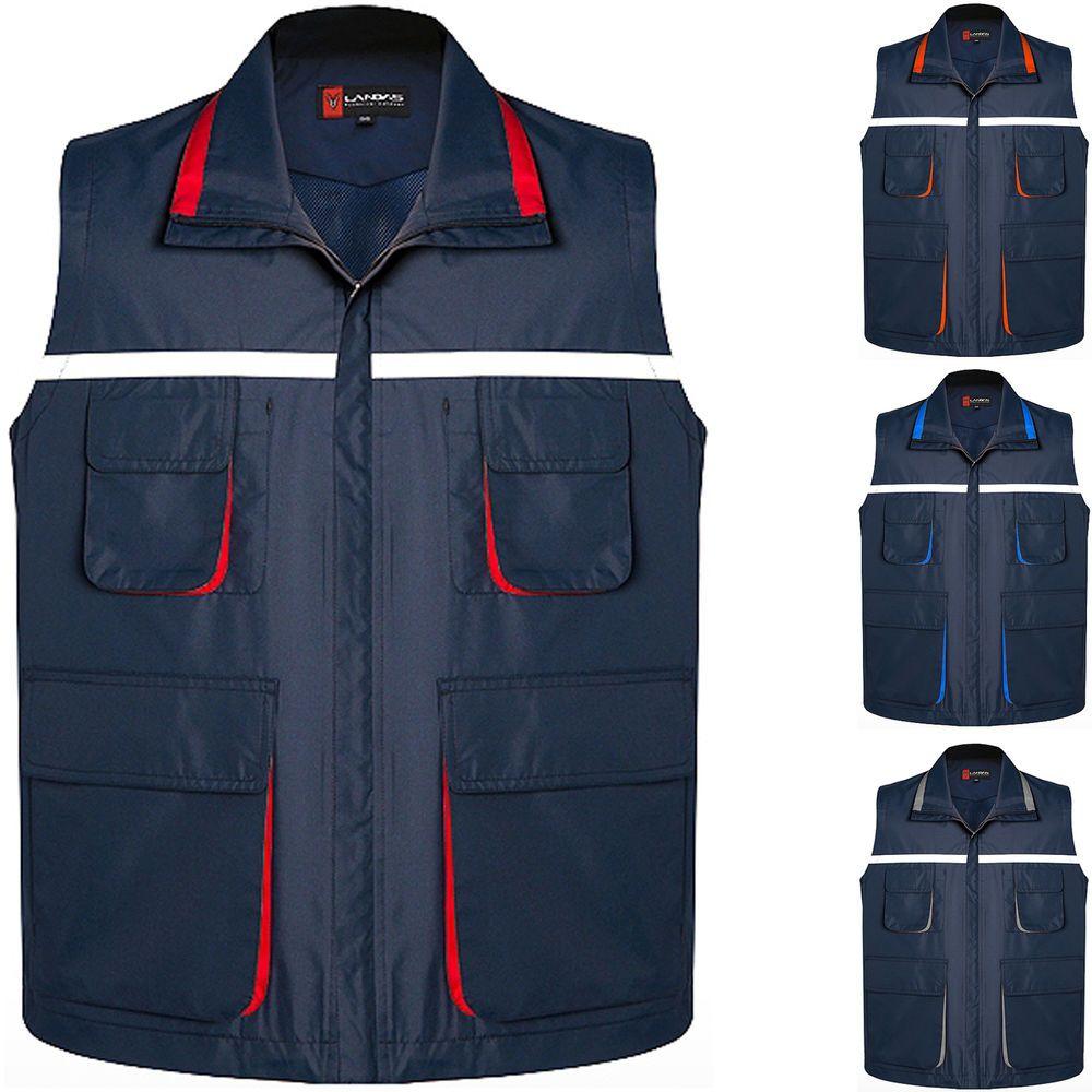 Details about Mens Multi Pockets Bouncer Ranger Vest