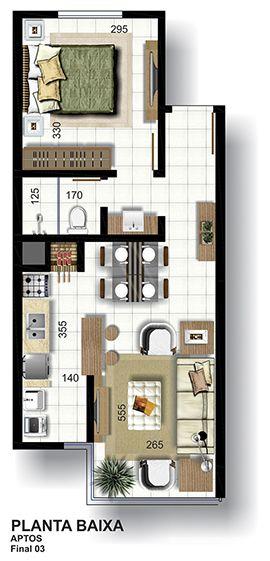 C2b im veis empreendimentos na cidade de lajeado for Soluciones apartamentos pequenos