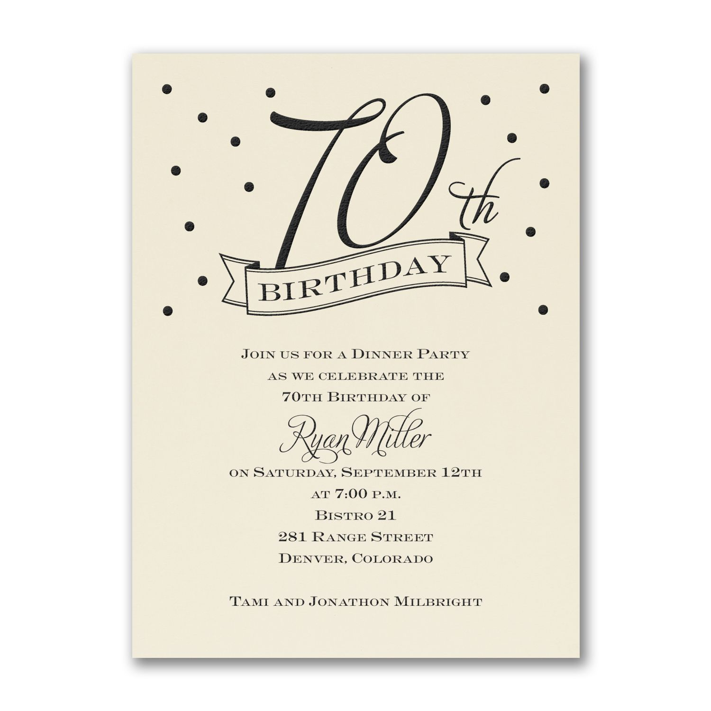 Medium Of 70th Birthday Invitations