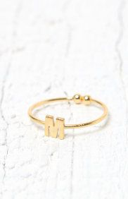 'M' Initial Ring
