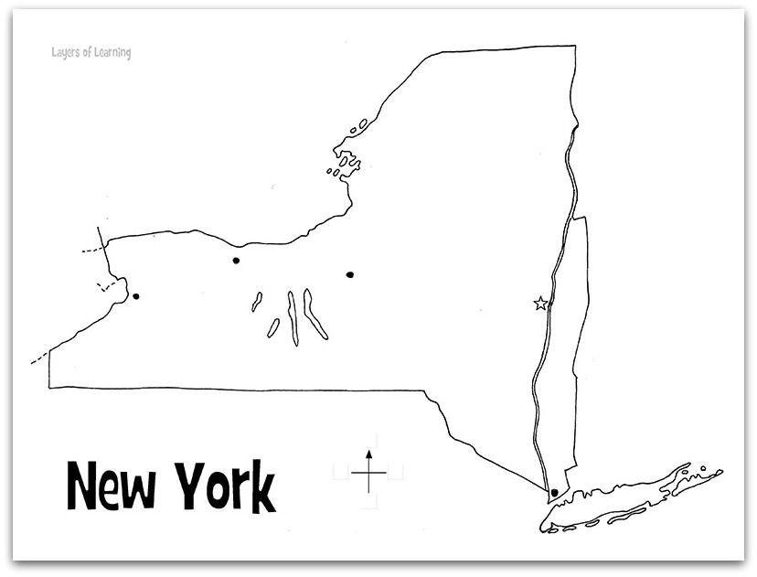 New York State Study Map Of New York Social Studies Notebook