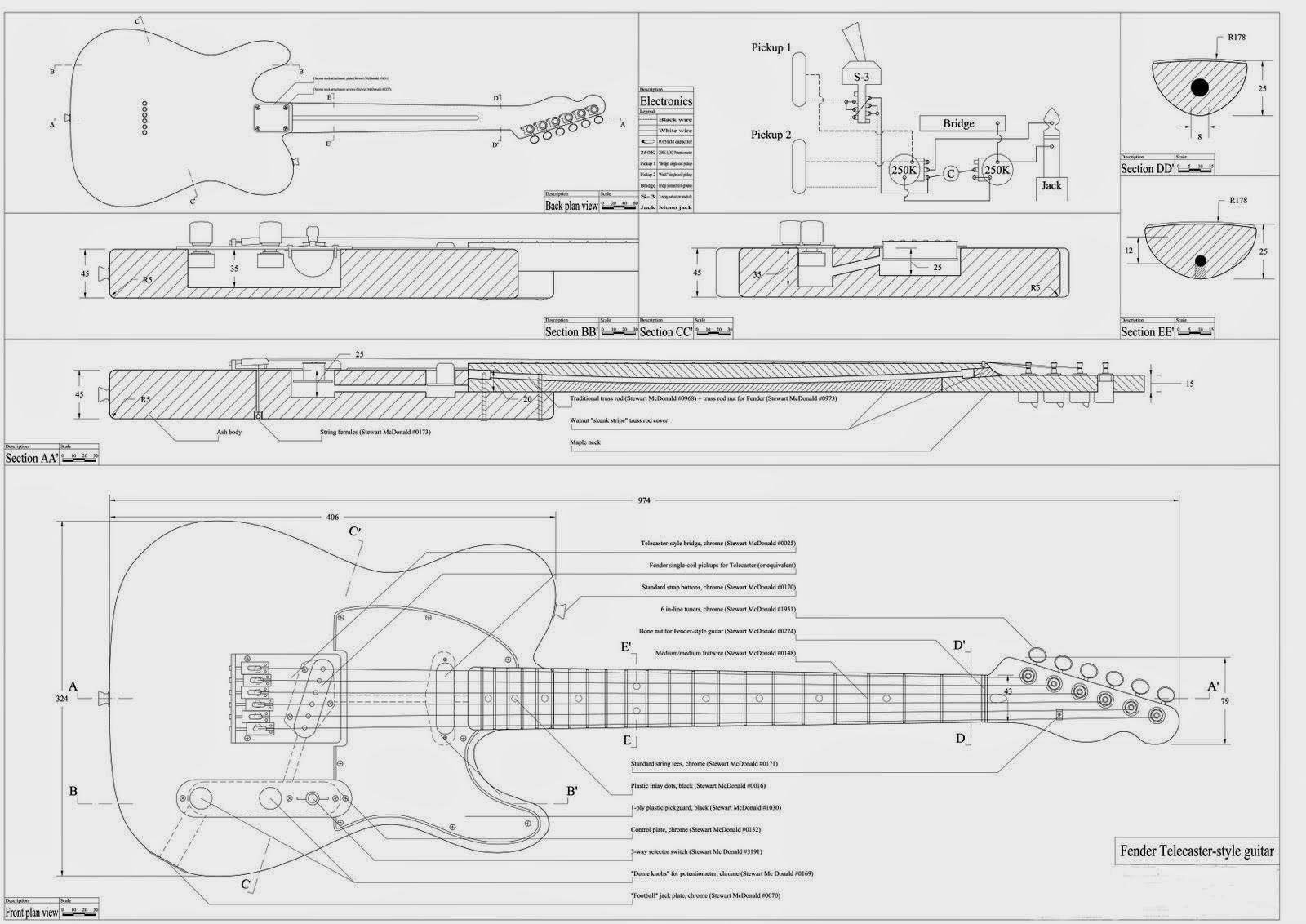 Printable guitar template PDF? - Page 26 - Telecaster Guitar Forum ...