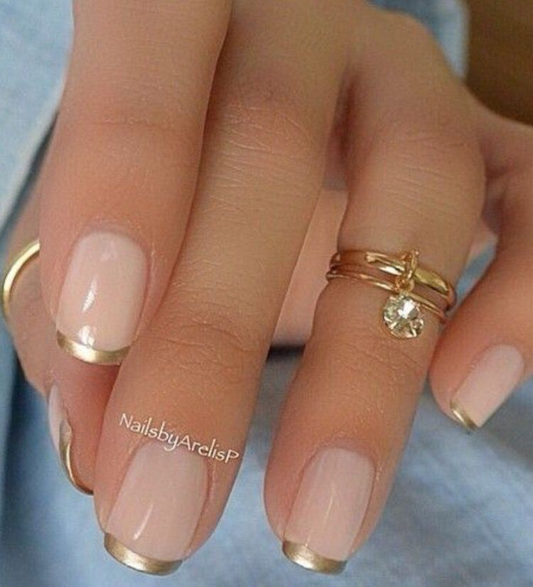 French gold | Nail it | Pinterest | Manicure, Ongles and Makeup