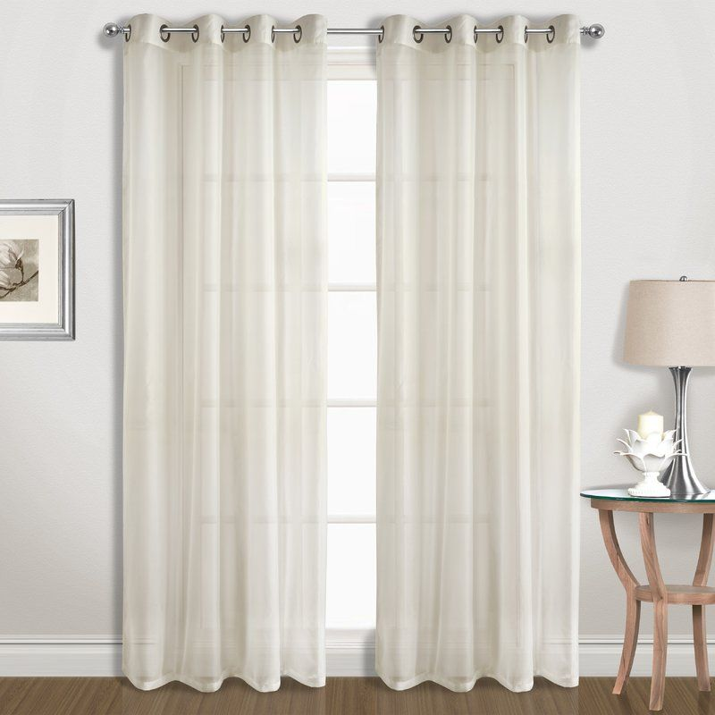 United Curtain Co Special Solid Sheer Grommet Curtain Panels