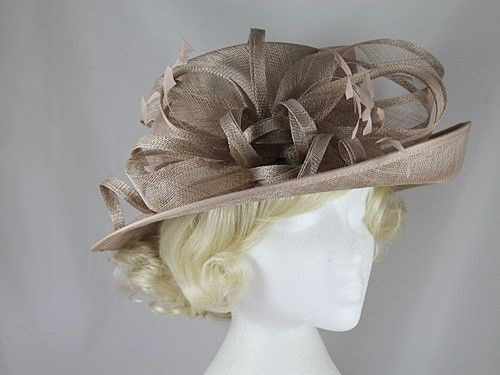 42c9f47d728c0 Hawkins Collection Upbrim Occasion Hat in Oyster   Wedding Hats ...