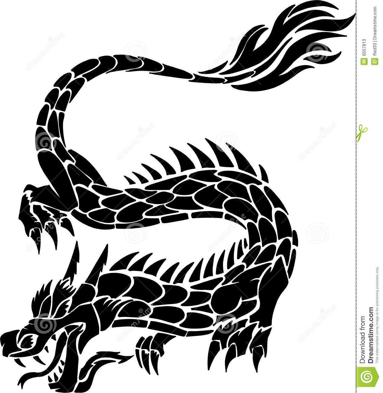 tatouage de dragon tribal photos stock image 6557813. Black Bedroom Furniture Sets. Home Design Ideas