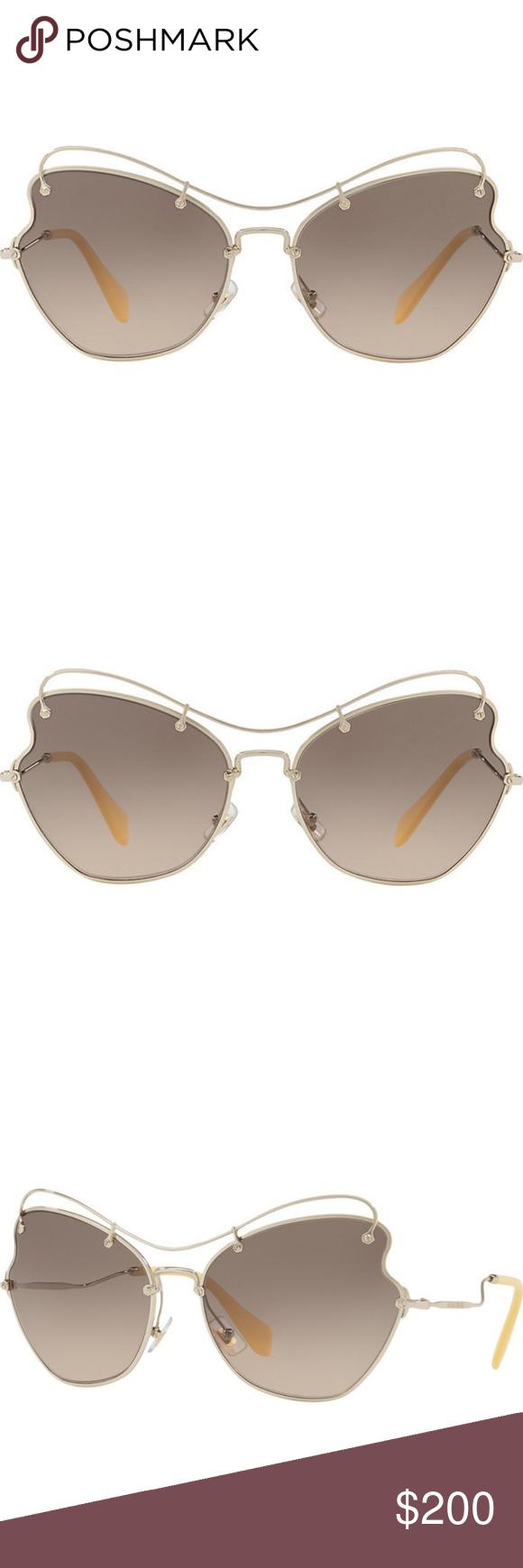 8ccb64e1f98f2 Miu Miu Butterfly Metal Sunglasses Pale Gold Brand  Miu Miu Model   MU56RS-ZVN3D0