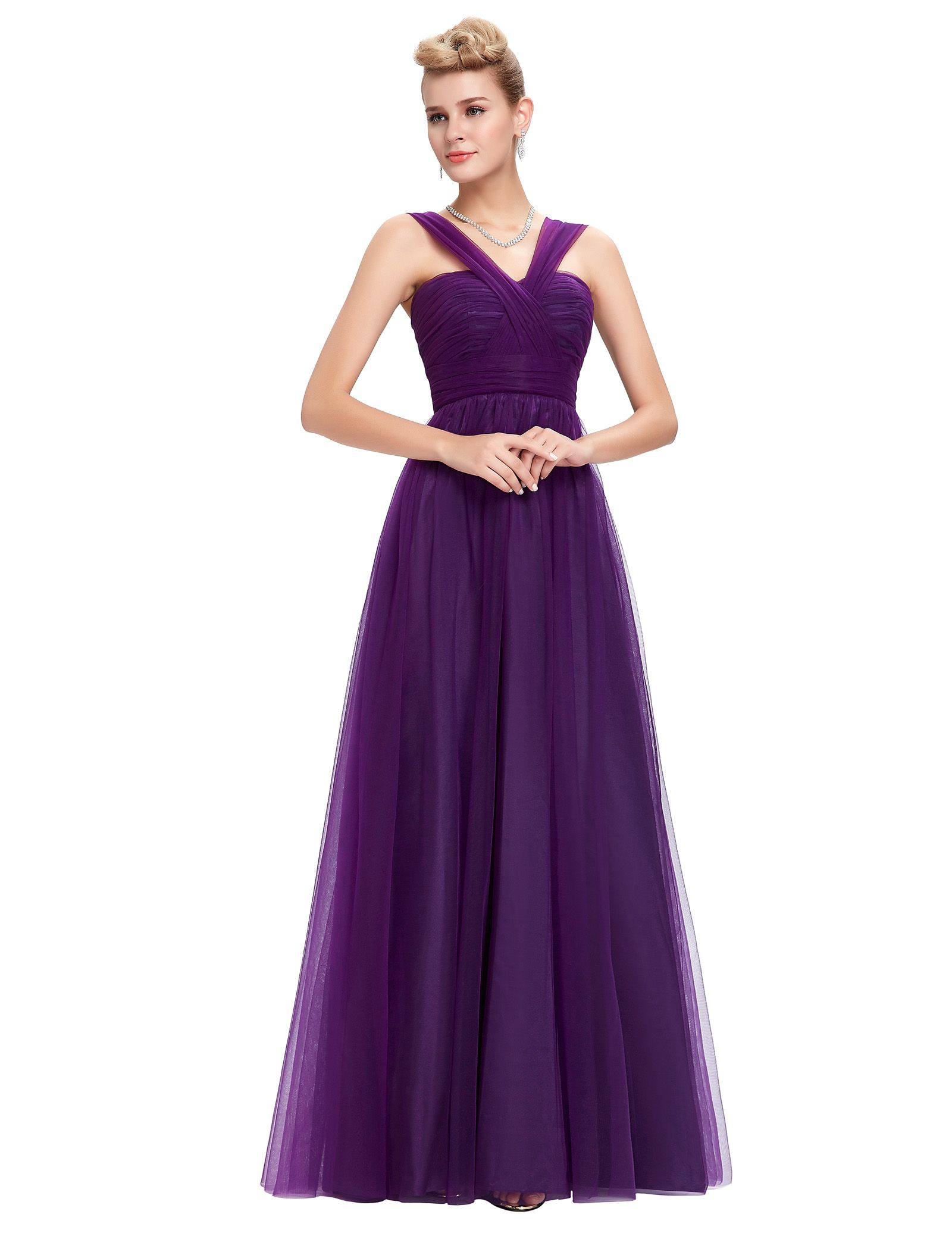 Aliexpress.com: Comprar Gracia Karin púrpura De noche largo De la ...