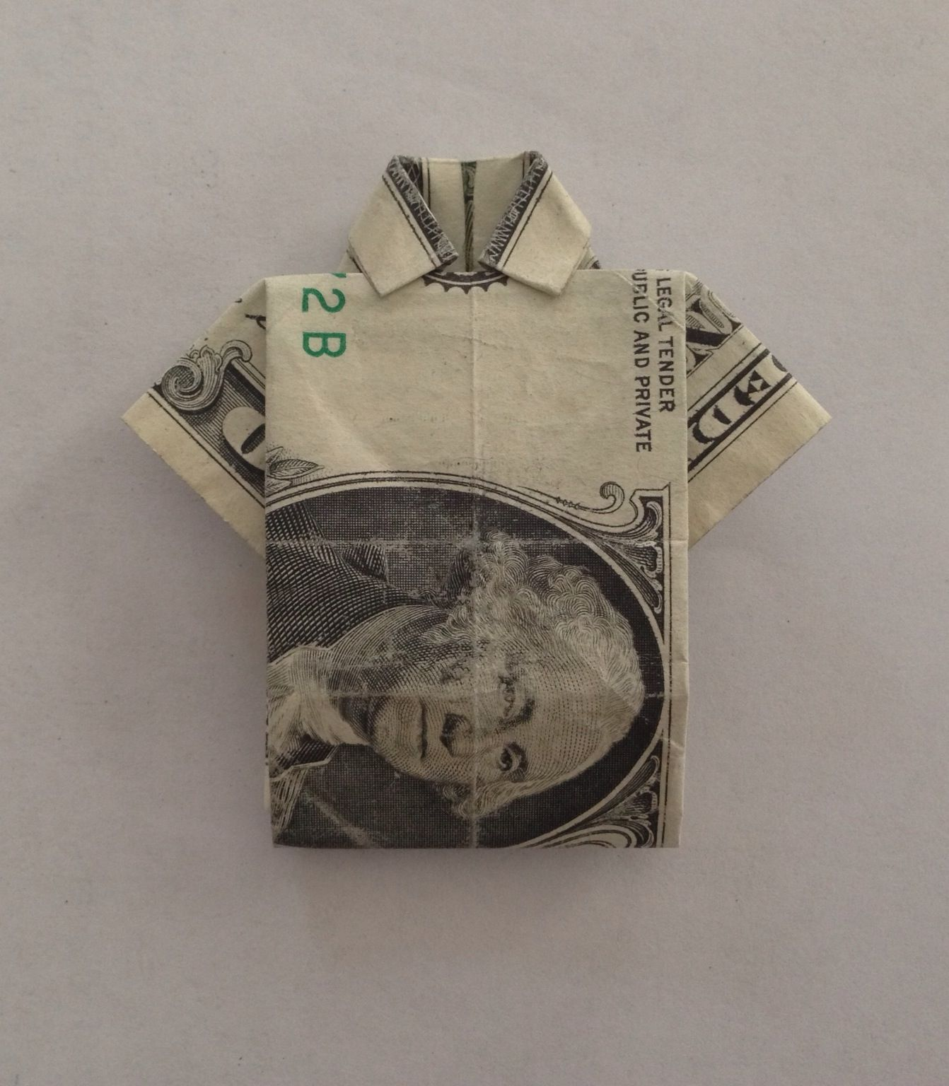How to Fold Dollar/any Bill Into a Shirt - Origami | Arts ... - photo#46