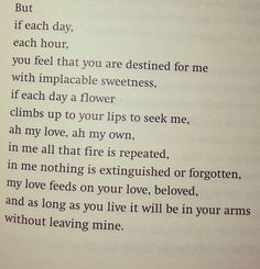 Obscure love poems