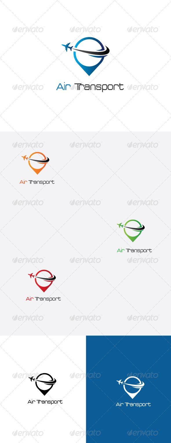 Air Transport Logo Template    Advertising   Transportation logo