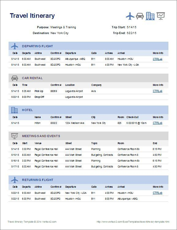 Create a one page summary of your travel plans using this itinerary create a one page summary of your travel plans using this itinerary template from httpvertex42exceltemplatestravel itinerary templateml thecheapjerseys Choice Image