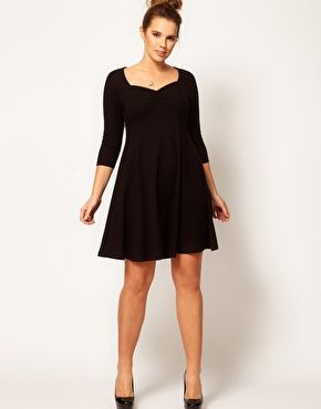 Asos Skater 34 With Curve Exclusive Sleeve At Dress rFEwrzx1qW