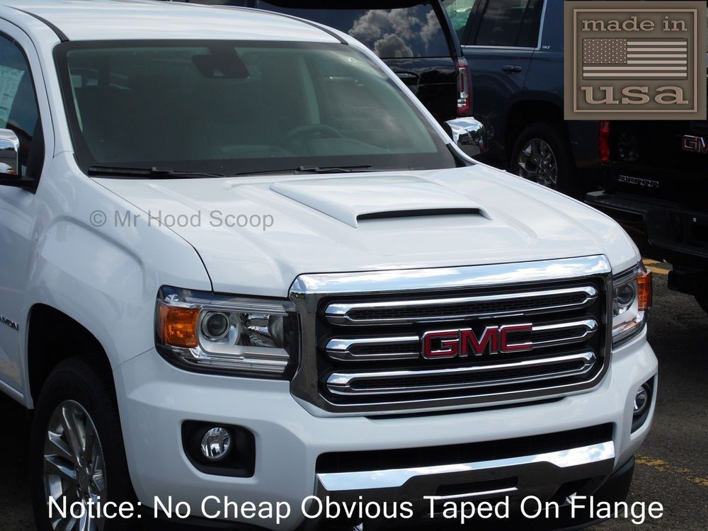 Details About Hood Scoop For Gmc Canyon Fits 2015 2020 By Mrhoodscoop Unpainted Hs003 Gmc Canyon Gmc Hood