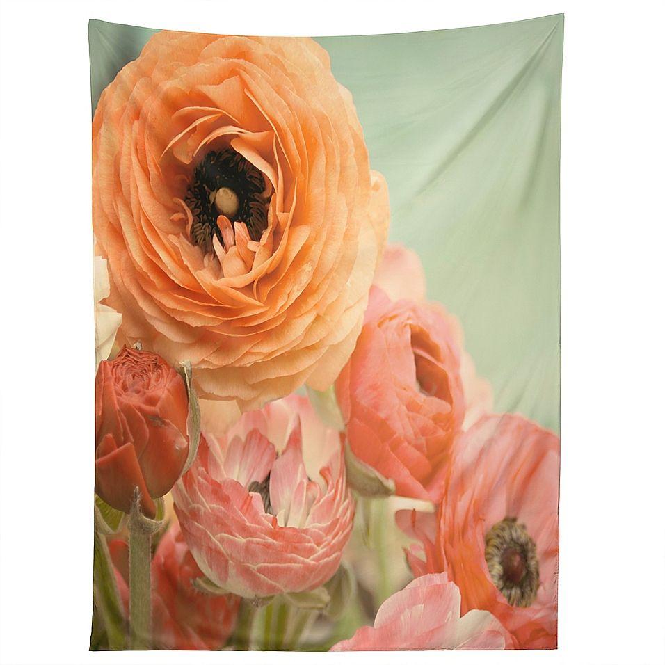 Deny Designs Bree Madden Spring Ranunculus Tapestry Bed Bath Beyond Framed Wall Art Floral Wall Art Deny Designs