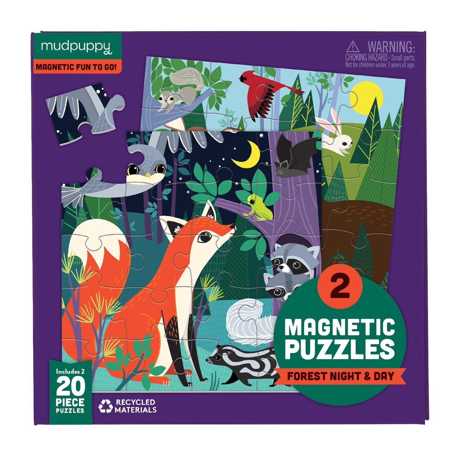 Forest Night Day Magnetic Puzzles Mudpuppy Day For Night