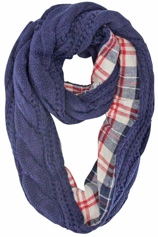 Cable Knit Infinity Scarf With Flannel Lining Bufandas Pinterest