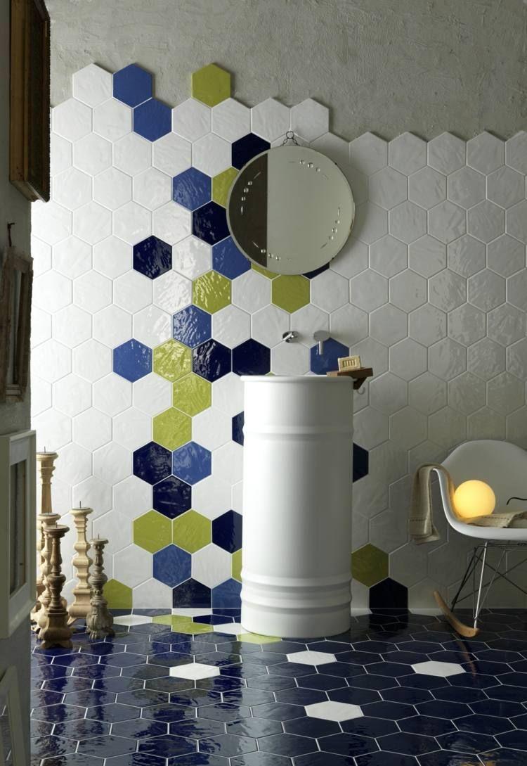 Carrelage hexagonal tendance id es de couleurs et designs for Carrelage 2 couleurs