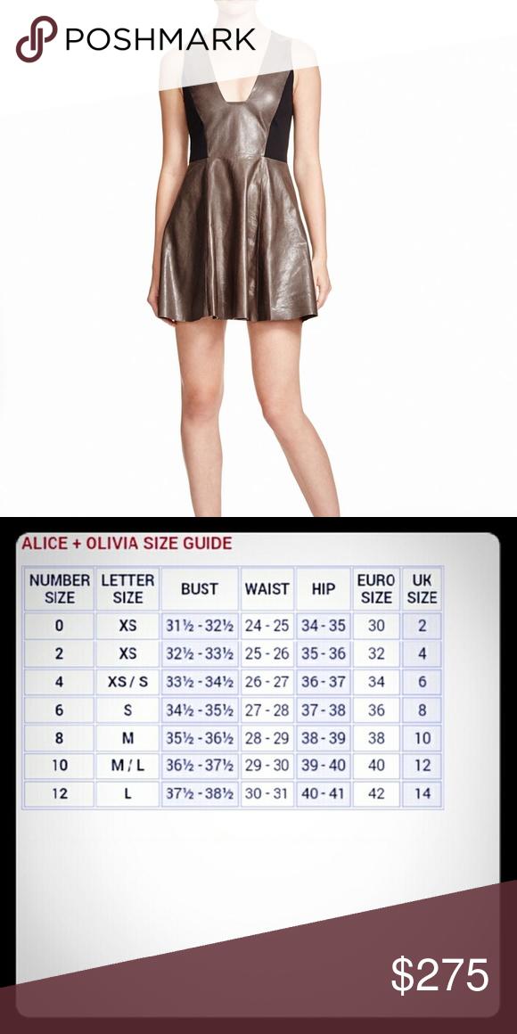 Alice & Olivia Black Reza Leather Panel Dress NWT ...