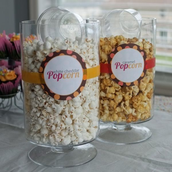 Shes Going To Pop Baby Shower In Pink And Orange Popcorn Bar