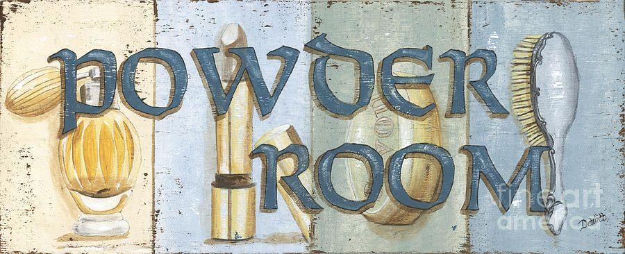 Powder Room Painting Print by @debdom419 on Fine Art America ...