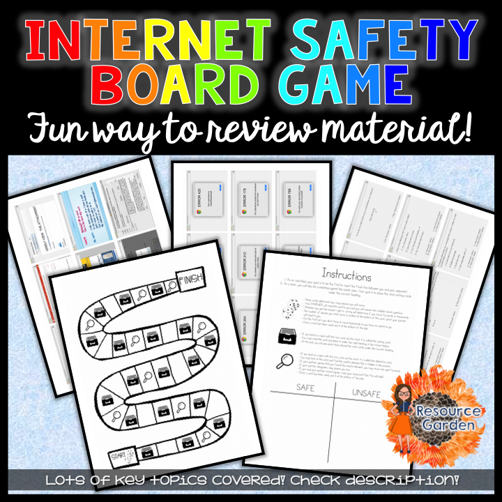 Safety Board Game safety, Printable