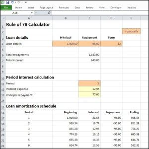 This Rule Of  Calculator Uses Excel To Produce A Loan