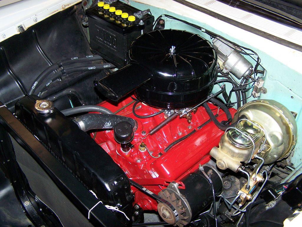 1956 Chevrolet 265 350 Engine | Chevrolet, 57 chevy trucks ...