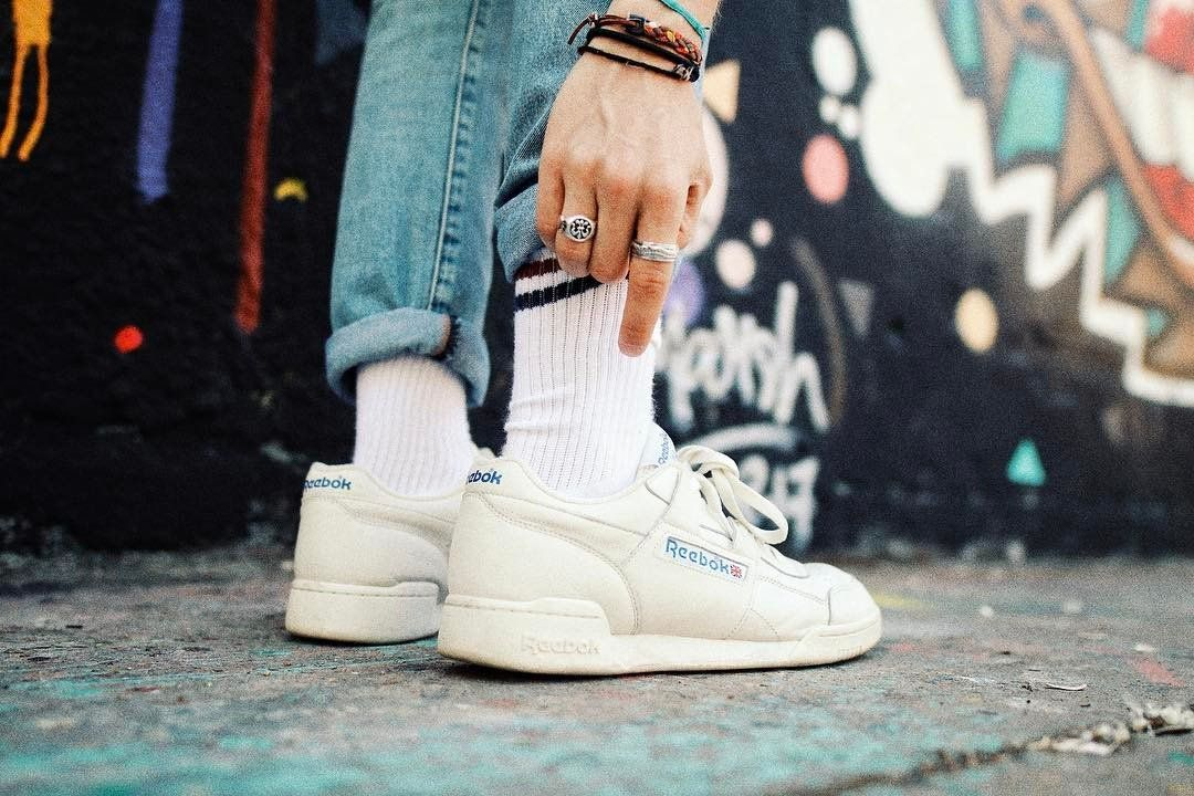d8546047 Reebok Workout Plus White Trainers   Urban Outfitters   Men's   Shoes    Trainers #UOEurope #UrbanOutfittersEU #UOonYou