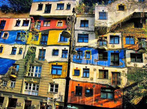 Hundertwasser painting hundertwasser pinterest for Architecture hundertwasser