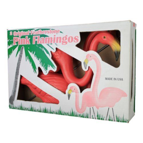 Cado Clic Pink Flamingos Signed Garden Pair By Union Products Http