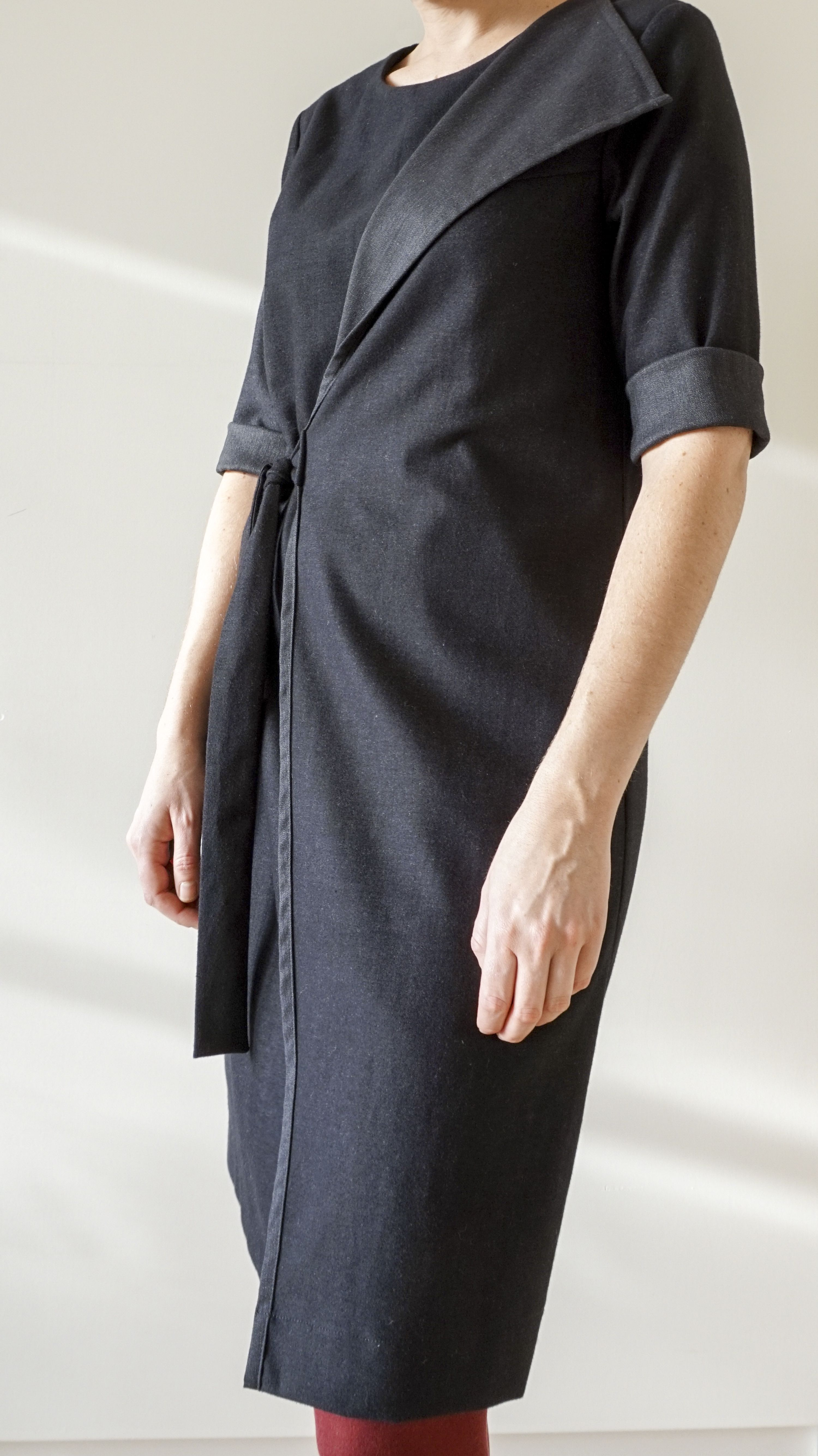 Blackgrey wrapdress by fenny faber collection pinterest gray