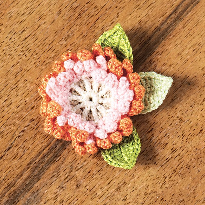 Double-layered corsage crochet pattern | crochet flowers and leaves ...