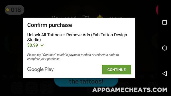 Fab Tattoo Design Studio Tips, Cheats, & Hack for Stars, All Tattoos, & No Ads Unlock  #FabTattooDesignStudio #Simulation #Strategy http://appgamecheats.com/fab-tattoo-design-studio-tips-cheats-hack/