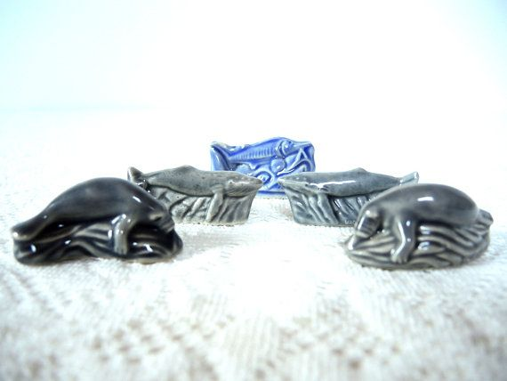 RED ROSE TEA ANIMAL FIGURINES BLUE WHALE ENDANGERED SPECIES COLLECTION