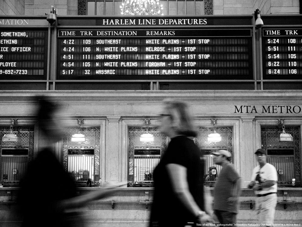 Evening ticket office. by Mitsushiro Nakagawa