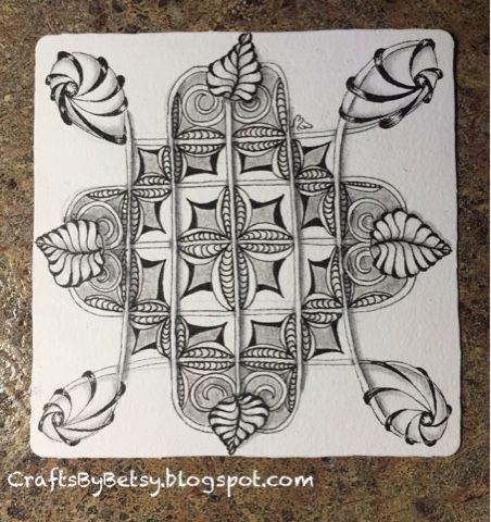 Time to get back to my Zentangle Primer Vol. 1. I'm still in the first lesson! Here is my Exercise 2 (#zp1x2) tile using two of the ba... Reticula
