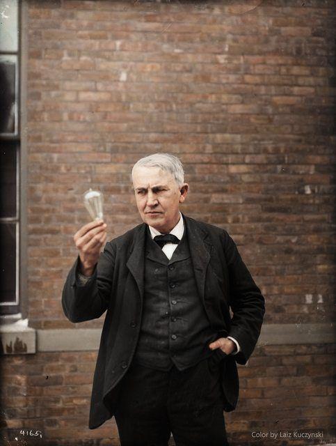 Inventor And Physicist Thomas Alva Edison New Jersey 1911