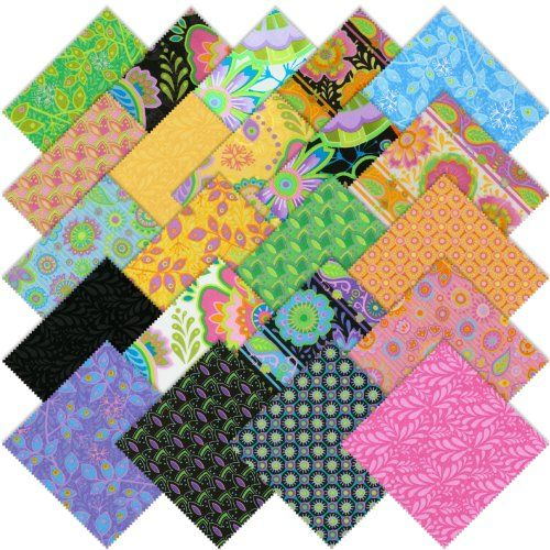 RJR Bloom Crazy Charm Pack, Set of 22 5-inch (12.7cm) Precut Cotton Fabric Squares RJR Fabrics http://www.amazon.com/dp/B00EAC58SS/ref=cm_sw_r_pi_dp_K8yAub1RVT47Q