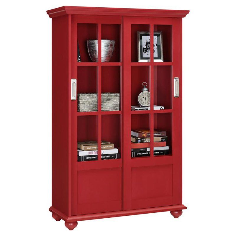 Altra Furniture Aaron Lane Barrister Bookcase With Sliding Gl Doors From Hayneedle
