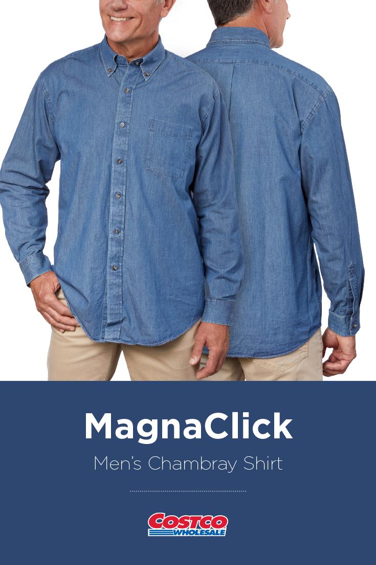 Magnaclick Mens Chambray Shirt Costco Fashion Pinterest