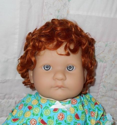 Lucien-MOHAIR-Doll-Wig-Size-12-13-32-34-cm-Carrot-Red-Full-Cap-MO7335