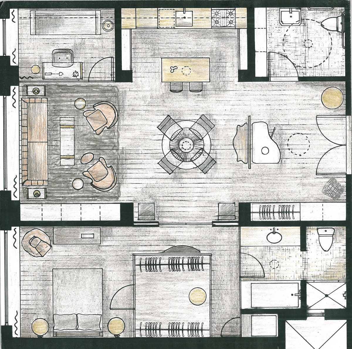 Interior Design Layout: RESIDENTIAL LOFT