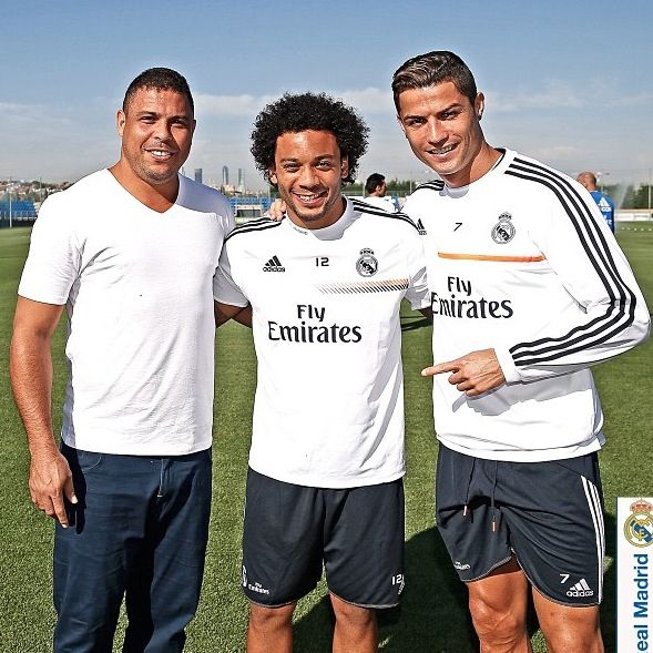 Ronaldo, Marcelo and Cristiano Ronaldo  Real Madrid