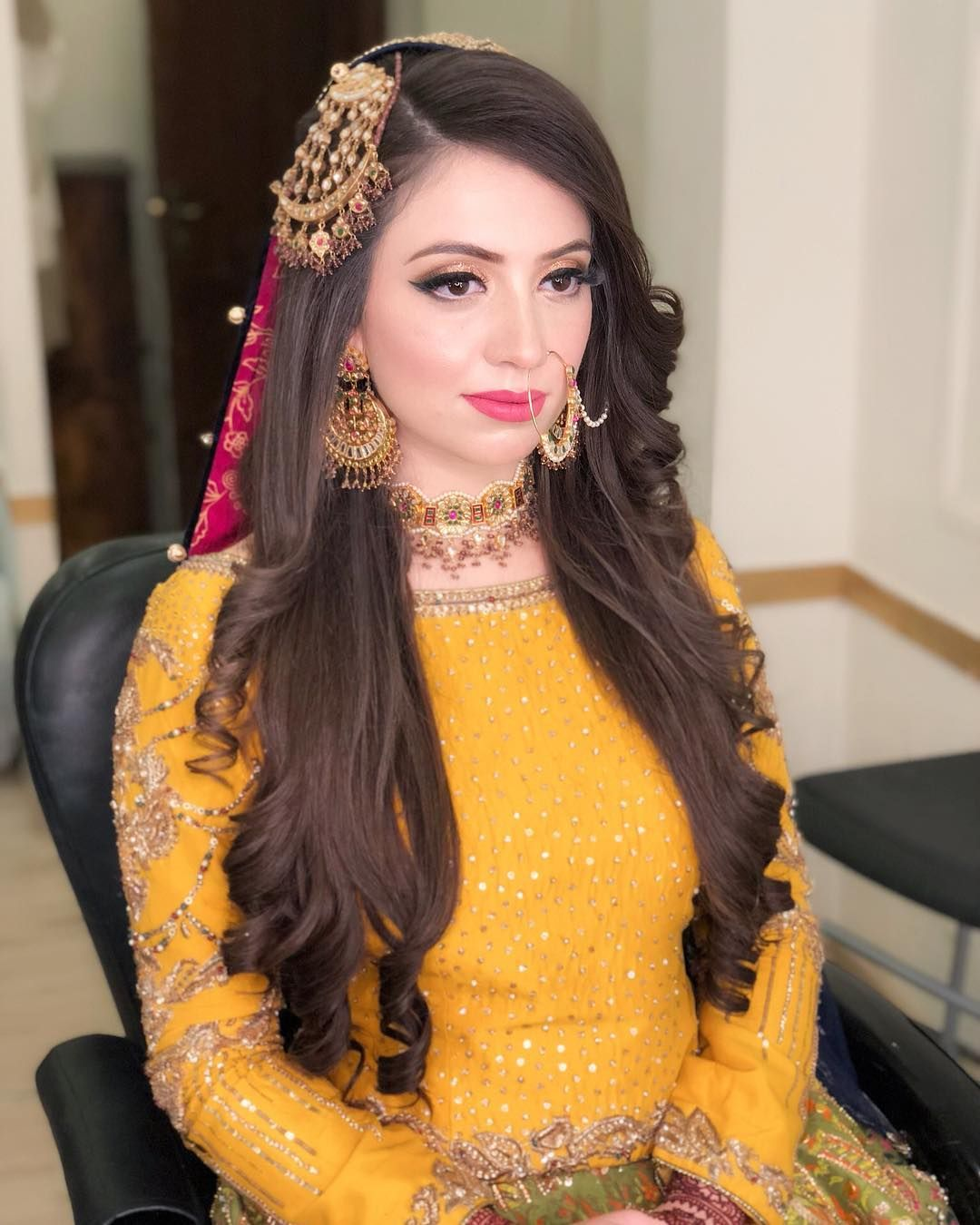 Hairstyles Pakistani Waleema: Pin By Cute Mute On Bridal Makeover In 2019