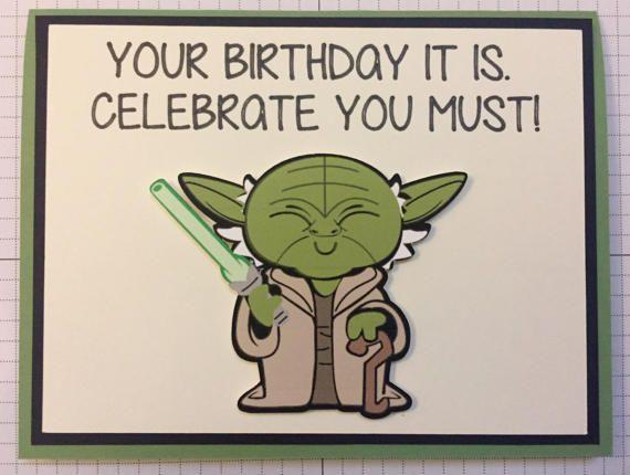 Disney Star Wars Yoda Birthday Greeting Card Star Wars Cards Star Wars Happy Birthday Cool Birthday Cards