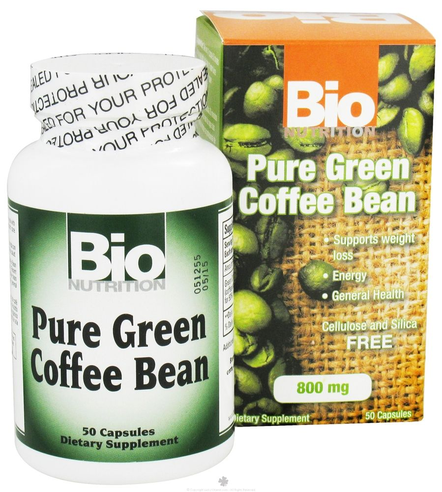 Pure Green Coffee Bean 800 mg. 50 CapsulesBio Nutrition