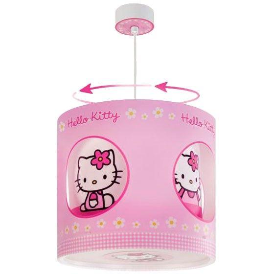 Hello Lámpara rosa Kittylamparas colgante infantil K1TFlJc
