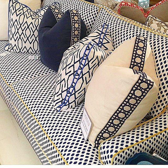 Narrow Corded Fabric Band On Pillow Edge Pillows Custom